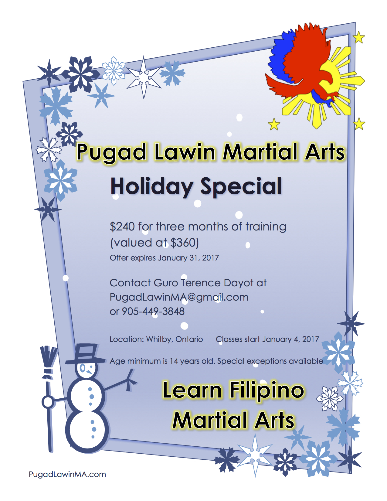 2016 Holiday Special Flyer